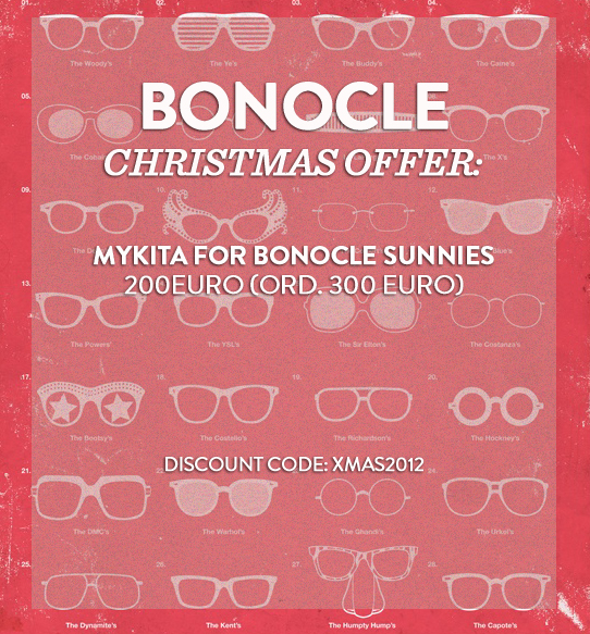Bonocle Christmas Offer 2012 // Discount code to bonocle.tictail.com