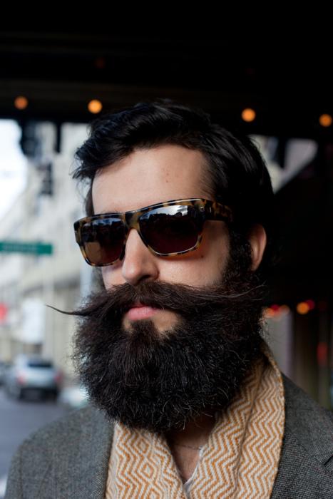 beard and eyewear