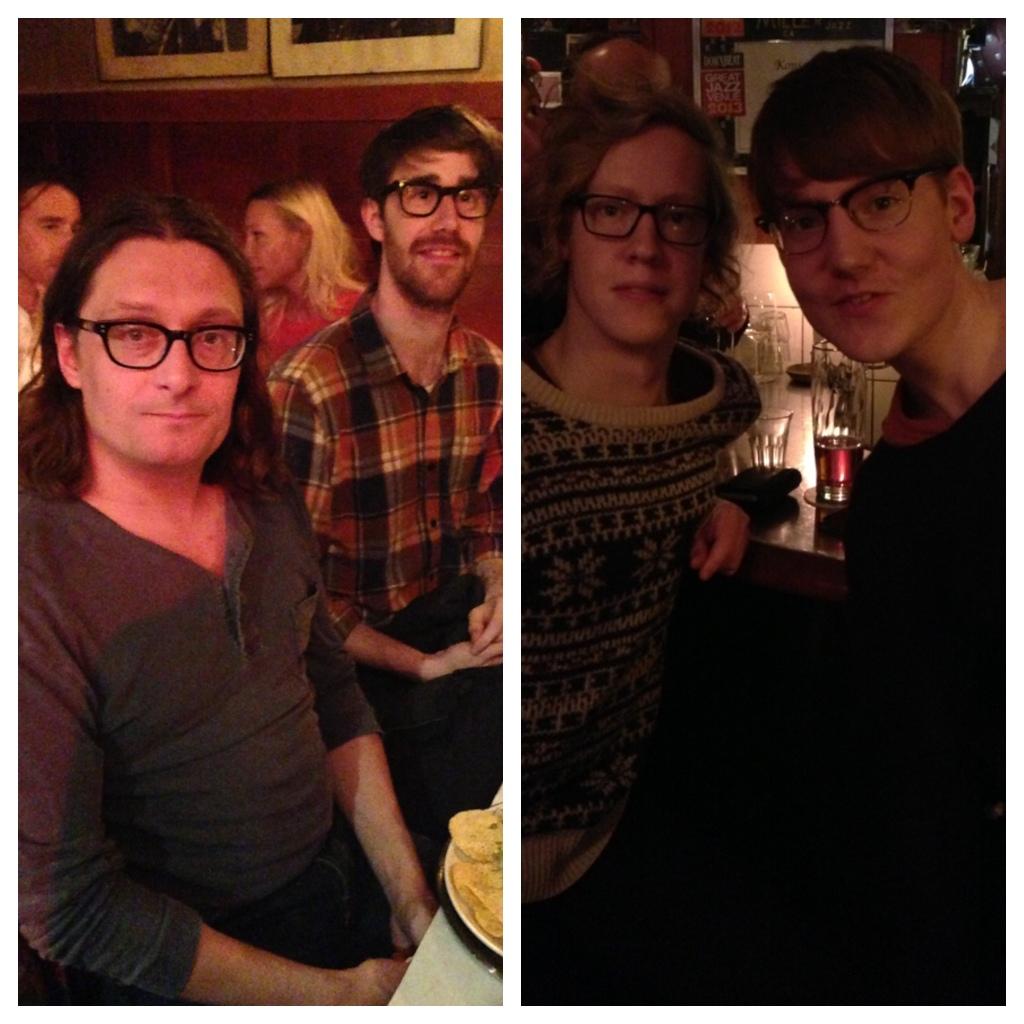 Eyewear people at a Jazz Club