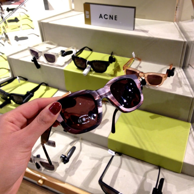 Liberty, London, Sunglasses from ACNE