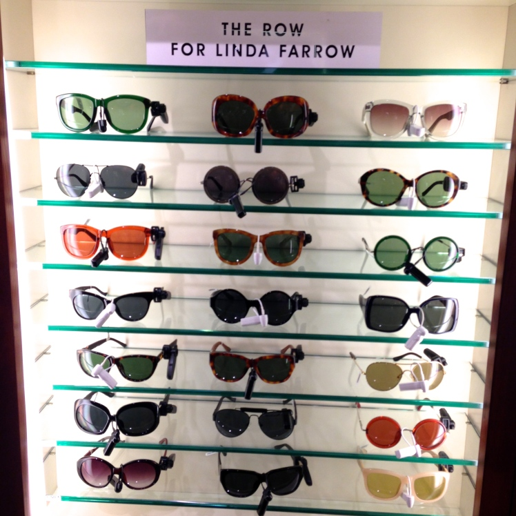 Liberty, London, Sunglasses from The Row (Linda Farrow)