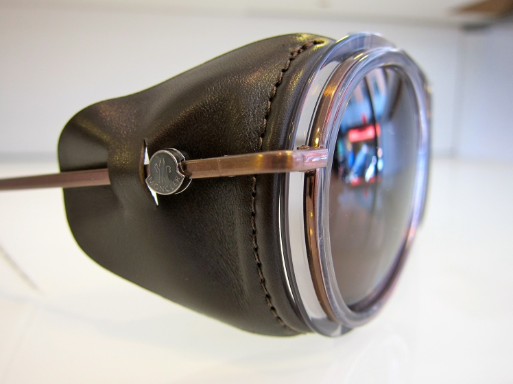 Moncler Lunettes MC511 06 leather side shields