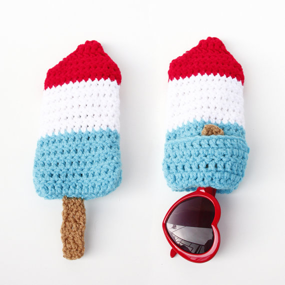 4th of July Bomb Pop Sunglasses Case