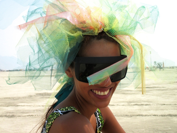 Burning man, Babba Canales wearing MYKITA MYLON