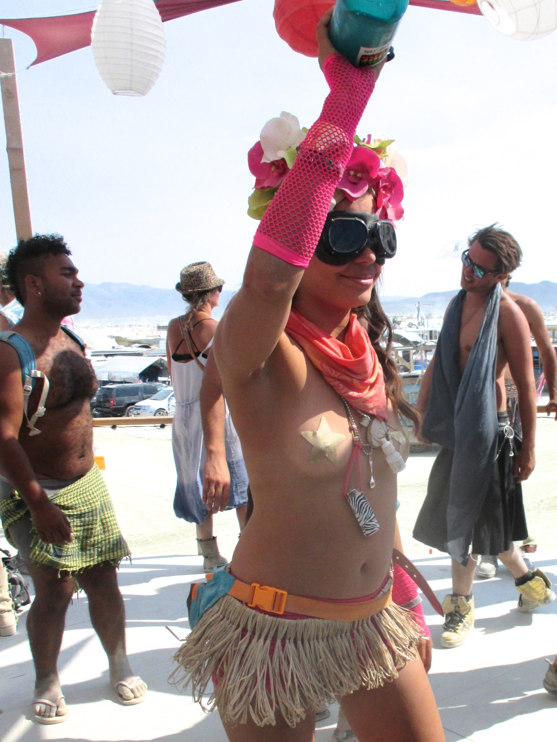 Partygirls at burning man 2013