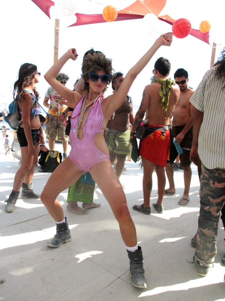 80s style at burning man 2013