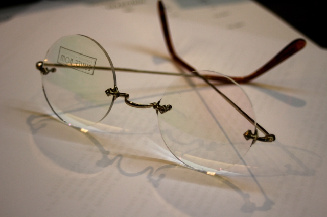 Algha Savile Row Rimless Model 14 k rolled gold