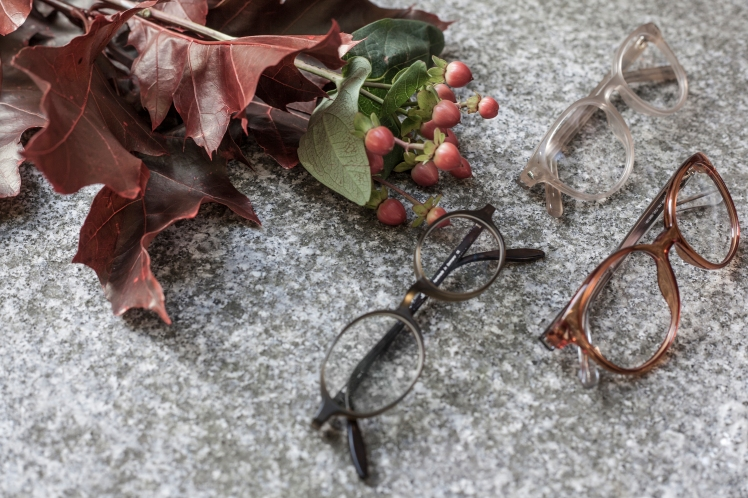 fall glasses autumn leaves red orange olive colors Schnüchel 1921 Sain Laurent Classic 10 Gucci GG3698 OA